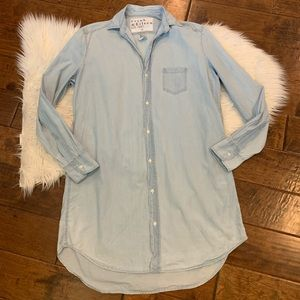 Frank & Eileen Mary shirt dress Small Chambray